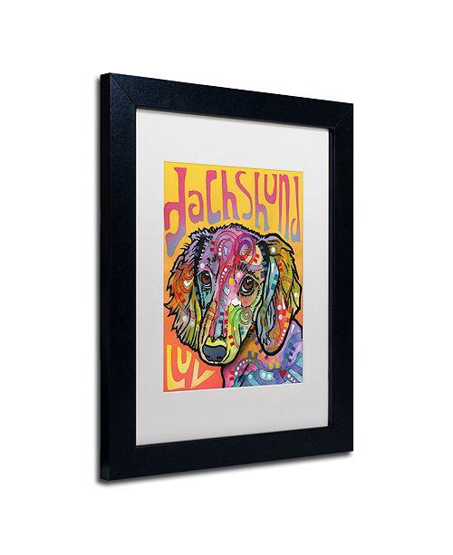 "Trademark Global Dean Russo 'Dachshund Love' Matted Framed Art, 11"" x 14"""