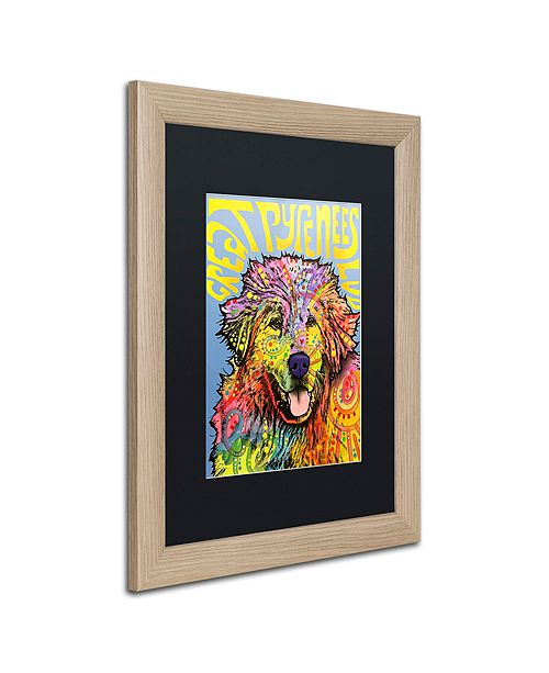 """Trademark Global Dean Russo 'Great Pyrenees' Matted Framed Art, 16"""" x 20"""""""