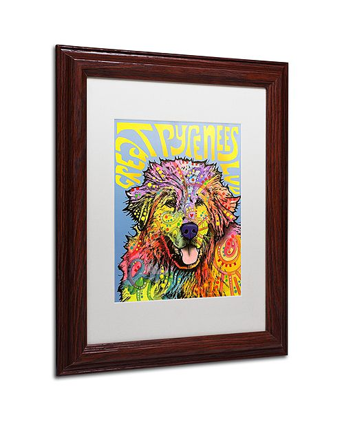 """Trademark Global Dean Russo 'Great Pyrenees' Matted Framed Art, 11"""" x 14"""""""