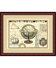 Nautical Map II Framed Art Print