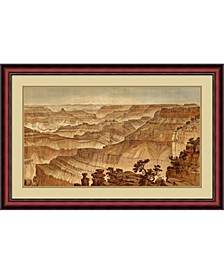 Grand Canyon - Panorama From Point Sublime , 1882 Framed Art Print