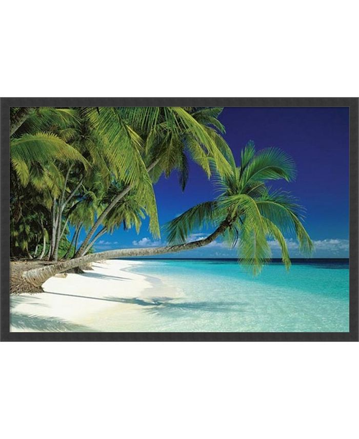 Amanti Art - Maldives Beach- 37x25 Framed Art Print