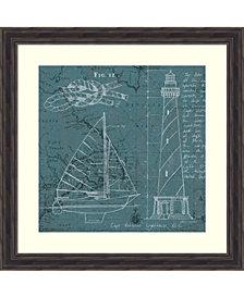 Amanti Art Coastal Blueprint III Framed Art Print