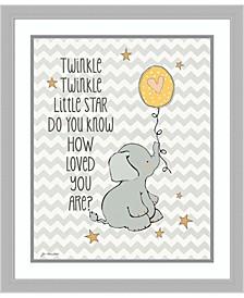 Twinkle Love Elephant Framed Art Print