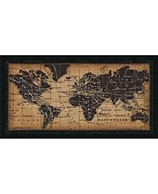 Old World Map  Framed Art Print