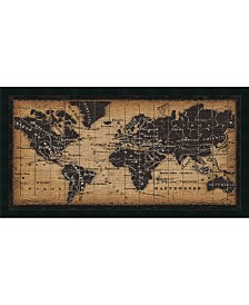 Amanti Art Old World Map  Framed Art Print