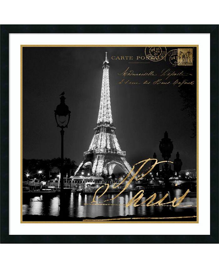 Amanti Art - Paris At Night 34x34 Framed Art Print