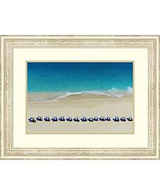 Amanti Art Coastal Umbrellas  Framed Art Print