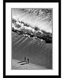 Amanti Art Watching The Ocean  Framed Art Print