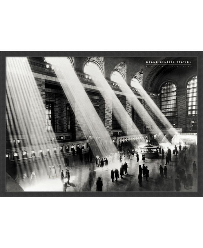 Amanti Art - Grand Central Station, New York, 1934 37x25 Framed Art Print
