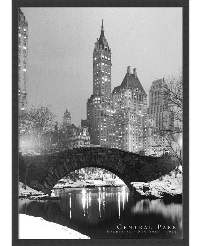 Amanti Art - Central Park- 25x37 Framed Art Print