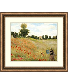 Poppies At Argenteuil, 1873  Framed Art Print