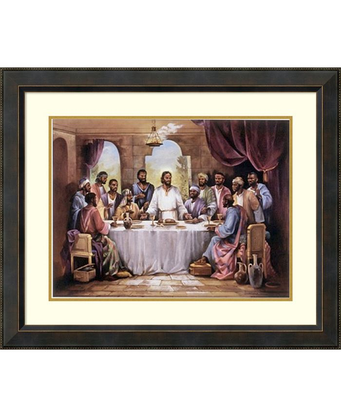 Amanti Art - The Last Supper 34x28 Framed Art Print