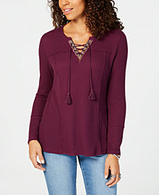 Style & Co Lace-Up Thermal, Created for Macy's