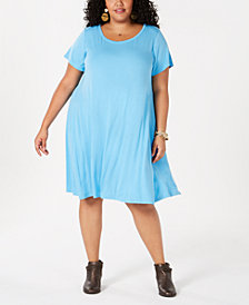 Style & Co Plus Size A-Line Dress, Created for Macy's