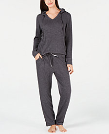 Alfani Ribbed Hacci Hoodie & Pajama Pants Sleep Separates, Created for Macy's