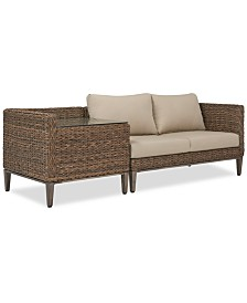 La Palma Outdoor 2-Pc. Sectional Seating Set (1 Left-Arm Loveseat Sectional And 1 Corner Table With Arm), Created For Macy's