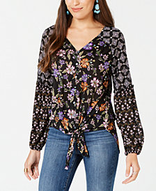 Style & Co Floral-Print Blouson Top, Created for Macy's