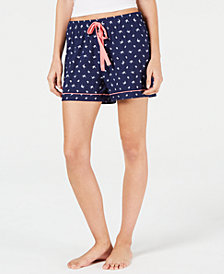 Charter Club Printed Knit Pajama Shorts, Created for Macy's