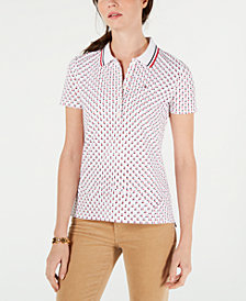 Tommy Hilfiger Star-Print Polo Top, Created for Macy's