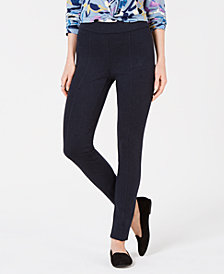 Style & Co Stretch Seam-Front Ponté Pants, Created for Macy's