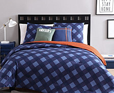 VCNY Home Checker Reversible 4-Pc. Twin XL Comforter Set