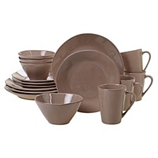 Harmony Solid Color - Taupe 16-Pc. Dinnerware Set