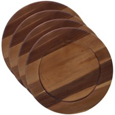 Certified International Acacia Wood 4-Pc. Charger Plate