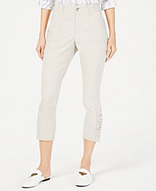 INC Curvy Ruched-Hem Cropped Pants, Created for Macy's