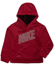 Nike Little Boys Therma-FIT Mesh Logo Pullover Hoodie