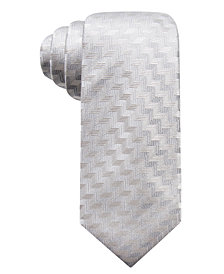 Alfani Men's Errol Slim Chevron Stripe Silk Tie, Created for Macy's