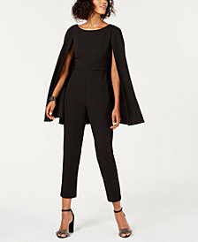 Adrianna Papell Cape Jumpsuit