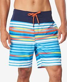 "Speedo Men's Striped 8"" E-Board Swim Trunks"