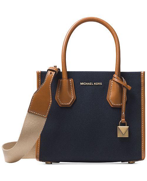 b1d7362012f3 Michael Kors Mercer Canvas Crossbody & Reviews - Handbags ...
