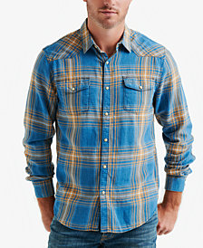 Lucky Brand Men's Plaid Western Shirt