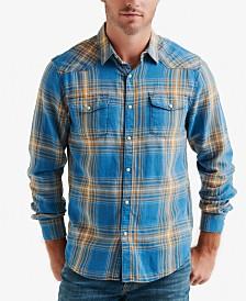 Lucky Brand Men's Plaid Western Shirt