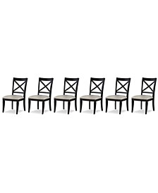 Rachael Ray Everyday Dining, 6-Pc. Set (6 X-Back Side Chairs)