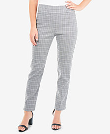 NY Collection Petite Plaid Slim-Fit Pants