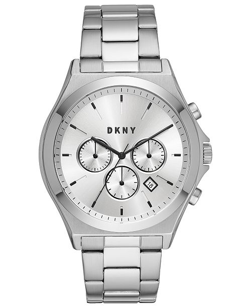 DKNY Men's Parsons Stainless Steel Bracelet Watch 44mm, Created For Macy's