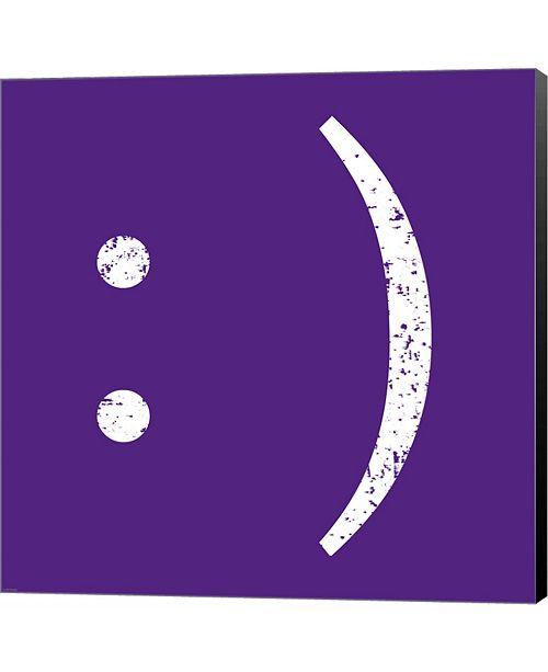 Metaverse Purple Smiley by Veruca Salt Canvas Art