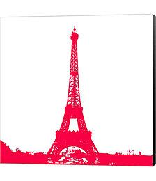 Red Eiffel Tower by Veruca Salt Canvas Art