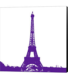 Purple Eiffel Tower by Veruca Salt Canvas Art
