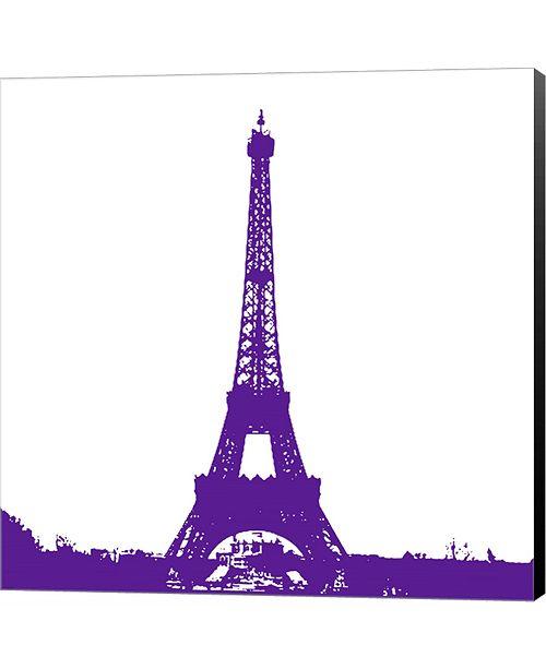 Metaverse Purple Eiffel Tower by Veruca Salt Canvas Art