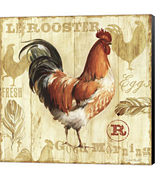 Joli Rooster I by Lisa Audit Canvas Art