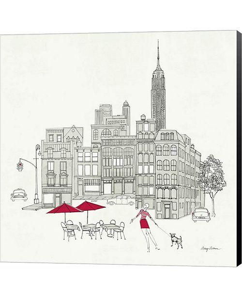 Metaverse World Cafe III - NYC Red by Avery Tillmon Canvas Art