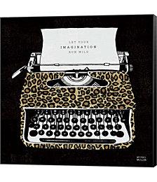 Analog Jungle Typewriter by Michael Mullan Canvas Art