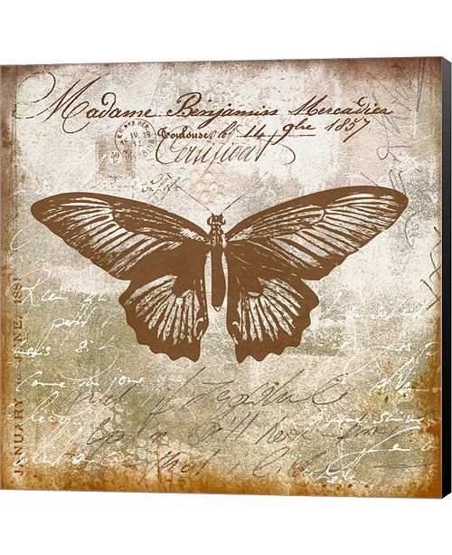 Metaverse Vintage Butterfly I Ocher by Andrea Haase Canvas Art