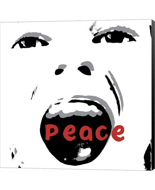 Metaverse Peace by Erin Clark Canvas Art