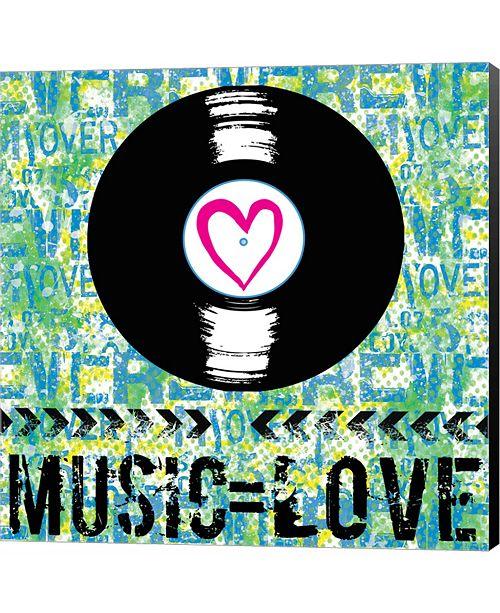 Metaverse Love - Music 2 by Louise Carey Canvas Art