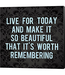 Live for Today 3 by Louise Carey Canvas Art